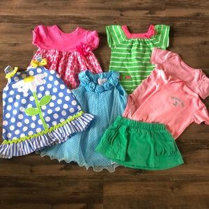 Toddler Girl's Summer 7-pc. Bundle size 18 months